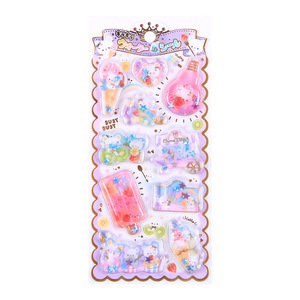 Image 5 - 12set Kawaii Stationery Stickers Crystal oil filling Diary Planner Decorative Mobile Stickers Scrapbooking DIY Craft Stickers