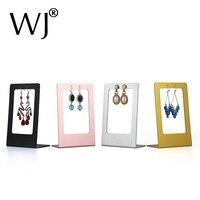 5.7Free Standing Metal Ear Stud Easel Display Holder Jewellery Shop Counter Top Drop Earring Pendant Stand Organizer Frame Rack