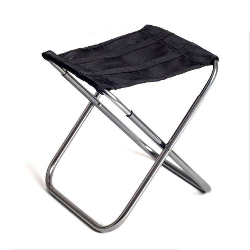 Portable Outdoor Aluminium Alloy Fishing Chair Seat Folding Stool Camping Hiking Picnic Chairs Barbecue H199 aluminium alloy outdoor foldable chair four legs fishing picnic bbq garden chair seat durable square camping stool 23 23 25cm