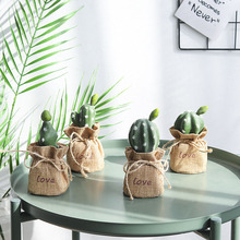 2019 Artificial Flowers Cute Mini Cactus Bonsai Attractive Home Garden Decoration Plants Multifarious Ornamental Fake