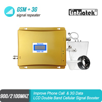 LCD Display GSM 900 Repeater 3G 2100 Cell Phone Signal Booster WCDMA 2G Dual Band Repeater Kit GSM 3G UMTS Cellular Amplifier#48
