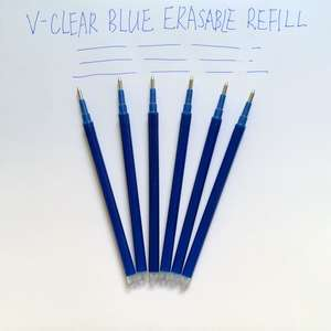 Magic Erasable Pen Refill 0.7mm Blue Ink Gel Pen Refill For Writing 6PCS Pen Stationery Office School Supplies Students Gifts