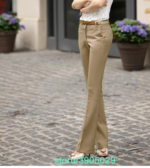 Plus Size Trousers Women Pants 2018 Spring Summer OL Formal Harem Pants  Women Office Dress Pants Flare Trousers Z808-in Pants & Capris from Women\'s  ...