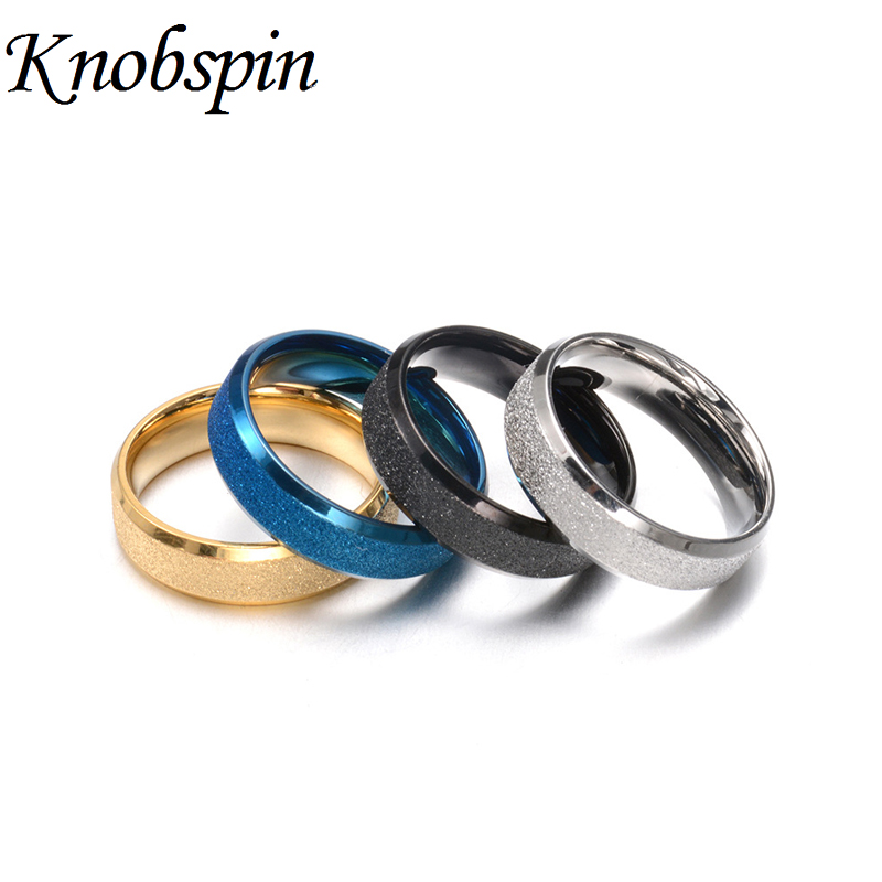 Jewelry & Accessories High Quality 6mm Silver/gold/black/blue Rings Dull Polish Stainless Steel Rings For Men Fashion Jewelry Gifts Size 6-12 Anillos Diversified In Packaging