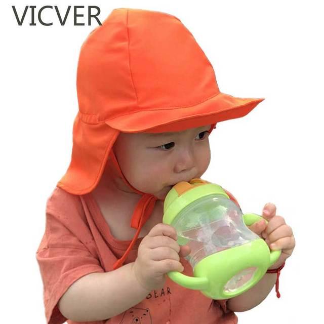 769c9120 Summer Hats For Baby Girls Boys Sun Hat Kids Beach Quick Dry Cap Child  Outdoor Neck
