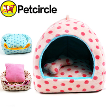 petcircle hot sale pet bed dog house cute dot dog kennel cagesg soft do house for chihuahua yorkshire size S-L big dog beds