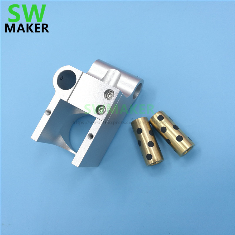 Ultimaker UM2+ 3D printer V6 jhead mount Ultimaker2+ all metal print head hot end mount For 6MM/8mm smooth shaft-in 3D Printer Parts & Accessories from Computer & Office    1