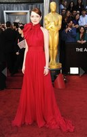 Free Shipping 2013 Oscars Emma Stone Red Carpet Celebrity Evening Dress Pageant Gowns Custom