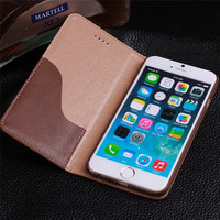 CYBORIS Top Quality Genuine Leather Case For IPhone6 6plus Phone Bag Wallet Stand With Card Holder