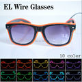 50pcs/Lot EL Dazzle Beautiful Shine Nightclub Show Flash EL Glasses LED Glasses Halloween Christmas Party Eyewear Dark Glow