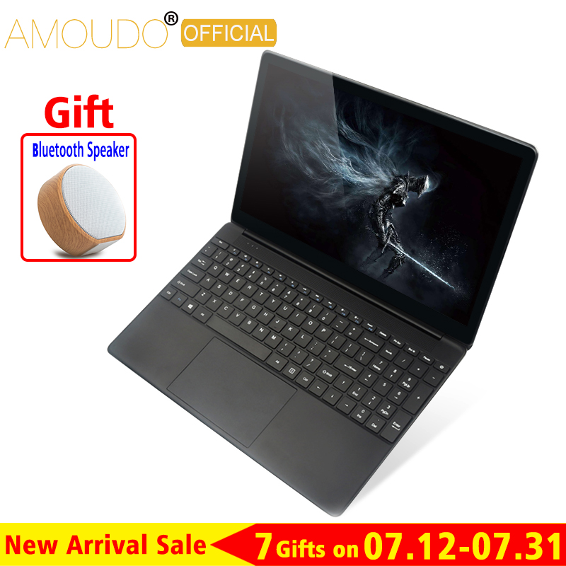 AMOUDO 15.6inch 8GB RAM 500GB/1TB HDD Intel Quad Core CPU 1920X1080P FHD Win7 Win10 Office Home School Laptop Notebook Computer