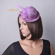 Wholesale Elegant NEW Sinamay Fascinator mini hat with fethers for wedding 47850f3e841