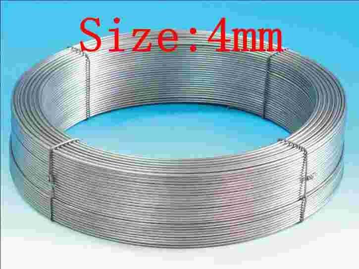 4mm pure ta1 ta2 ta2  titanium wire, Ti silk coil 0.5 mm to 0.8 mm 1 mm 2 mm  4 mm