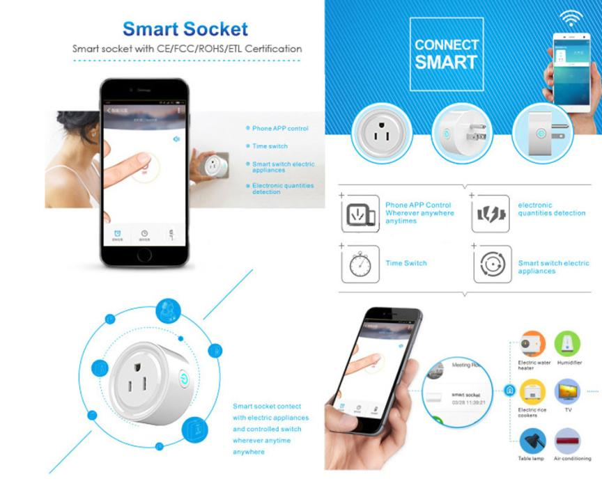 Smartphone Outlet wifi smart phone remote control timer switch power socket outlet