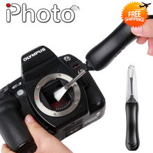 Micnova MQ-MB100 Eletricidade Estática Sensor 4 DIODO EMISSOR de Luz Da Câmera Escova de Limpeza para Canon Nikon Sony Pentax SLR Lens Caneta de Limpeza