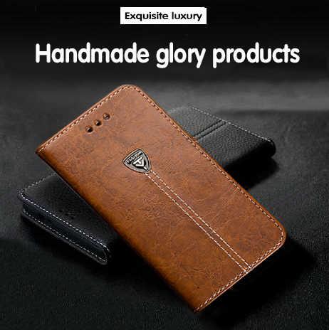 Funda AMMYKI de 5,9 pulgadas para Huawei Mate 10 Lite, funda trasera del teléfono de cuero de alta calidad con tapa con Logo metálico, funda trasera del teléfono de 5,9 pulgadas para Huawei Mate10 Lite