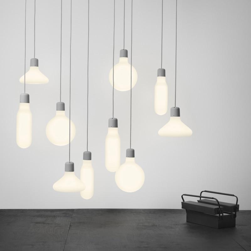 Modern cluster pendant light white glass pendant lamp for Modern white pendant lighting