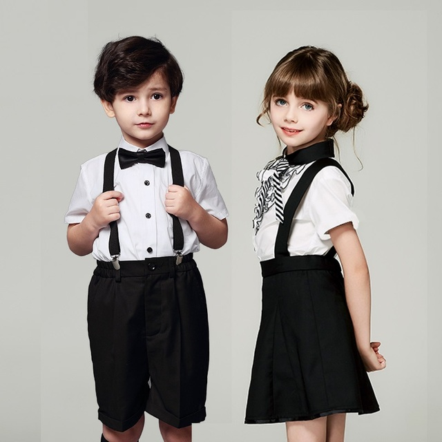 Boy Girl Formal Suit Clothes for Wedding Prom Party Costume Chorus ...
