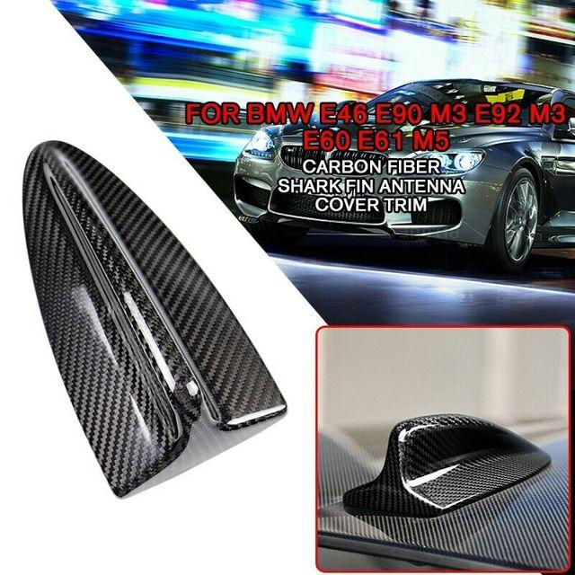 pcmos Car Stickers Fits For BMW E60 M5 E46 E90 E92 M3 Carbon Fiber Shark Fin Antenna