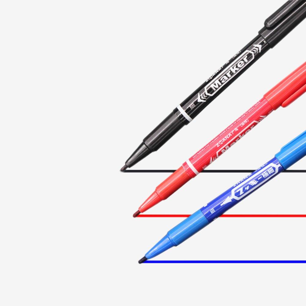 3 PCS Marker Pens Skin Marker Pen Scribe Tool permanent Tattoo Supplies Good Waterproof Ink Thin Nib Crude Nib New Portable 1