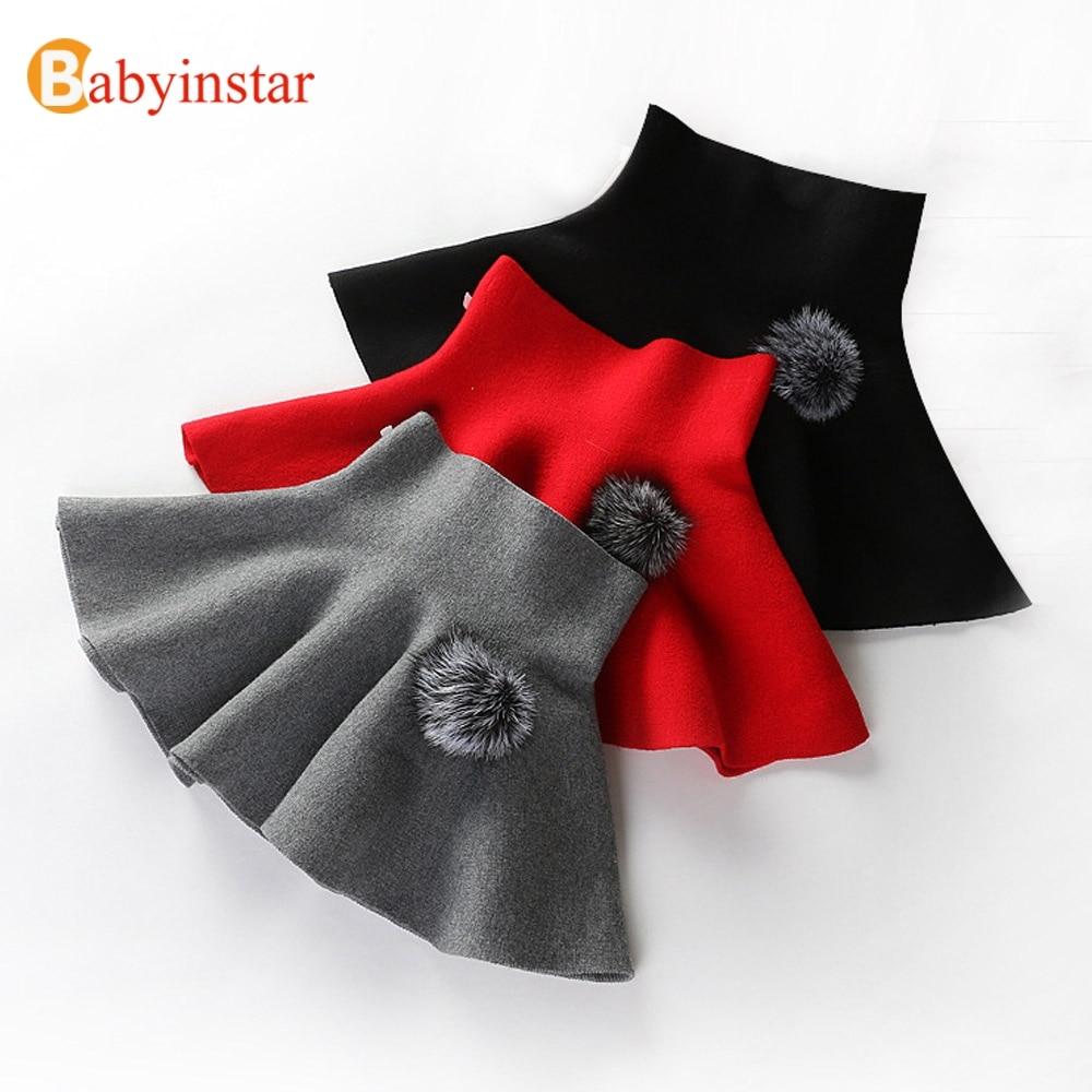 Babyinstar Girls Skirts 2018 New Kids Knit High Waist Wear Outerwear Baby Bottoms Clothes Casual Children's Princess Tutu Skirts недорго, оригинальная цена