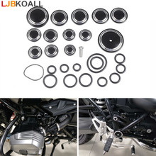 frame hole caps decor cover protector kit for bmw r1200 r nine t 2014 2015 2016 motorcycle accessories parts LJBKOALL Motorcycle Aluminum Frame Hole Flug Caps Cover Set for BMW R Nine T R9T 2014 2015 2016 Black