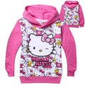 TM-P1, 5pcs/lot, Children girls hoodies, long sleeve cartoon pullover sweatshirts, hello kitty