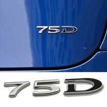 Chrome Emblem Word Decals Set P100D PD 60 75 85 90 100 Badge P90D Decorative Decal Numbers Car sticker For Tesla Model S X