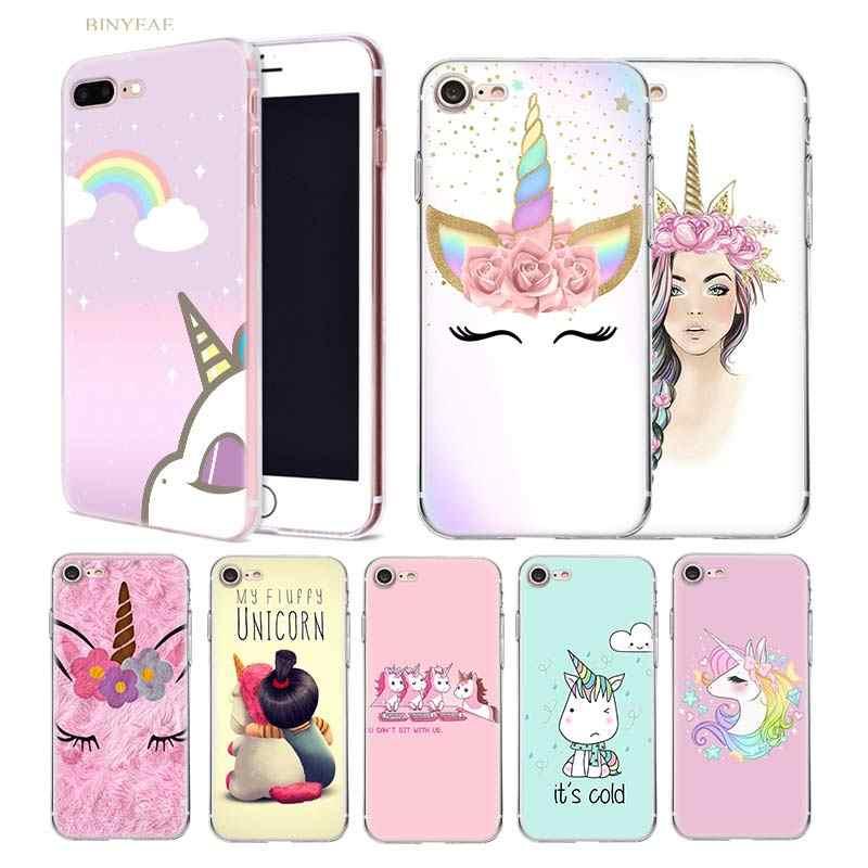 My Unicorn Girl Case For Apple iPhone 11 Pro XR XS Max X 7 8 Plus 7 6S 6 5 SE 2020 Silicone Sac Kawai Carcasa Phone Coque Cover