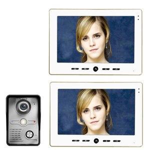 "Image 1 - ÜCRETSIZ KARGO 10 ""Inç renkli video kapı telefonu Zil Intercom Kiti 1 camera 2 monitor Gece Görüş"