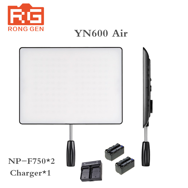 YONGNUO <font><b>YN600</b></font> <font><b>Air</b></font>+Battery charger LED Camera Video Light 3200K-5500K for Canon Nikon Pentax DSLR Camcorder Photography Lighting image