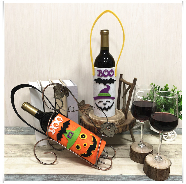Wine Bottle Decor Bottle Cover Clothes Kitchen Dinner Table