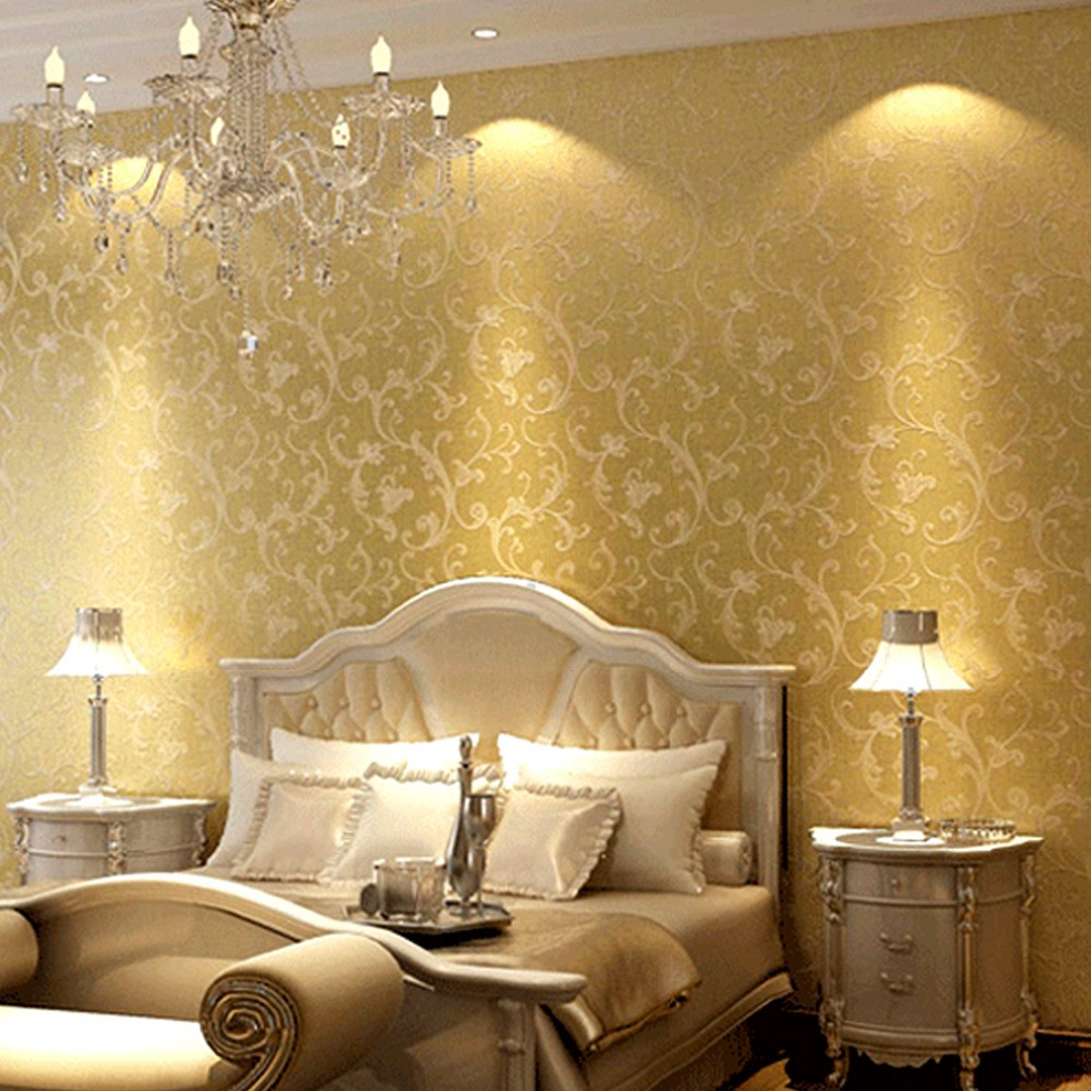 Bedroom wall decorations modern - Aliexpress Com Buy European Modern 3d Wall Decor 3d Bedroom Wall Paper Roll Printing Flowers Styles Vinyl Velvet Damask Of Wall Paper For Walls 3d From