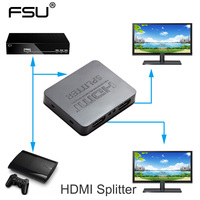 HDCP 4K HDMI Splitter Full HD 1080p Video HDMI Switch Switcher 1X2 Split 1 In 2