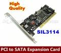 1 ШТ./ЛОТ PCI для SATA карты 4 порта SIL3114-4I карт расширения, ТБ массив жесткий диск/карты расширения