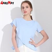 Garemay Women S Chiffon Blouses Ladies Tops Cool Blouses Chiffon Ruffle Blouse Shirt For Women Clothing