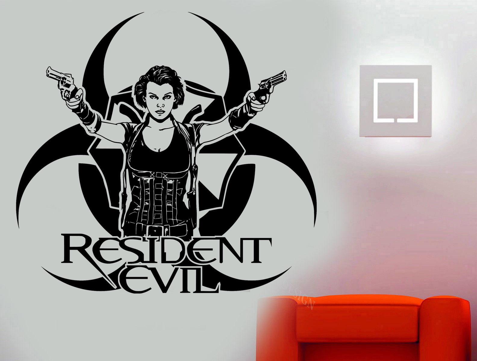 Resident Evil Game Movie Karakter Alice Art Muursticker Sticker Woonkamer Vinyl Woondecoratie Diy Muurschildering E580 In