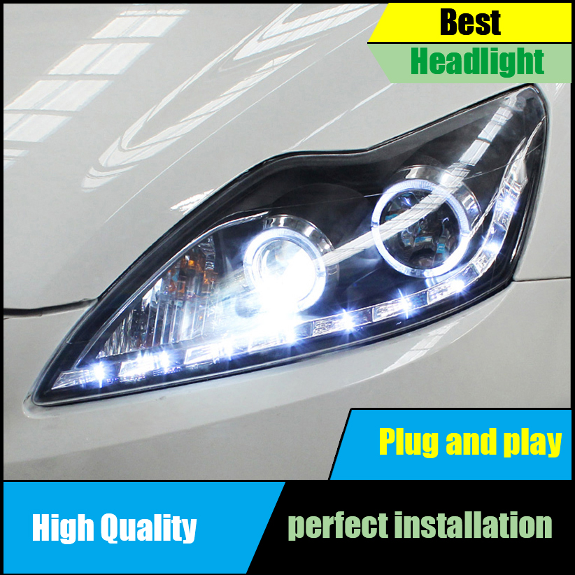 Car Head Lamp Case For Ford Focus MK2 Headlights 2009-2011 LED Headlight DRL Bi-Xenon Lens High Low Beam Parking Fog Lamp
