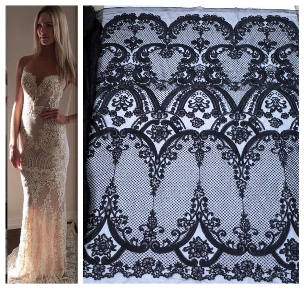 La embroidered dress wedding