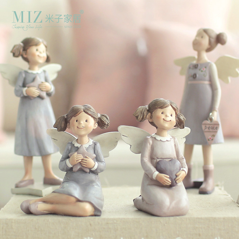 Miz 1 Piece Resin Home Decor Bunny Girl Figurines Doll for Gift for - Home Decor - Photo 1