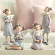 Miz Home 1 Piece Resin Home Decor Bunny Girl Figurines Doll for Gift for Friend Cute Cartoon Gift for Kid Decor Birthday Gift