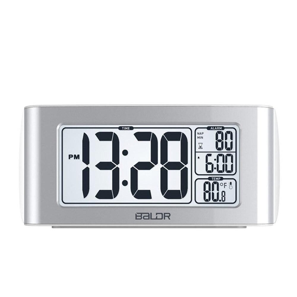 ЖК-дисплей цифровой таймер сон Температура время Дисплей часы настольные стол Спальня Подсветка Путешествия настольный термометр Повтор Б...