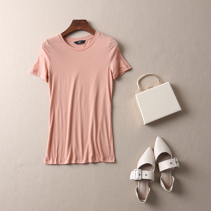 2018 mujeres camiseta, señora Top manga corta YD75