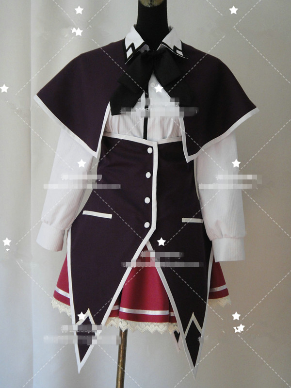 Anime! High School DXD Rias Gremory Uniform Cosplay Costume Women/Men Unisex Shirt+skirt+tie+cape+apron Free Shipping