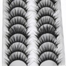 YOKPN False Eyelashes Eyelash 10 Pairs Long Section Natural Thick False Eyelashes Makeup Tool High Quality Fiber Eyelashes