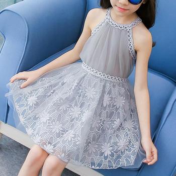 568098d0a8252 2019 Bebek Çiçek Kız Elbise Prenses Dantel Düğün Parti Pageant Örgün Elbise  Çocuk Balo Homecoming Tül Elbiseler 2-10Y