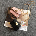 New Children Princess Handbags Metal Chain Kids Girls Messenger Bag Shoulder Bags Free Shipping.
