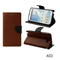 New Luxury Original Mercury Goospery Fancy Diary Case Leather Holster Card Wallet Stand For Samsung Galaxy
