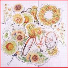 14 pcs flower vintage personalized scrapbook Stickers scrapbooking material sticker happy planner decoration craft