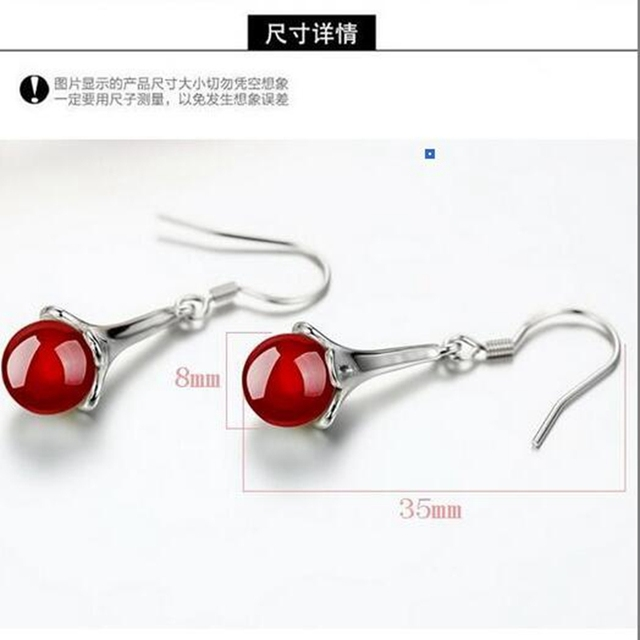 OMHXZJ Wholesale Jewelry Geometric Simple Fashion joker star for Woman Gift Agate Flower 925 Sterling Silver drop Earrings YS201-in Earrings from Jewelry & Accessories on Aliexpress.com | Alibaba Group